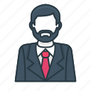 business, employee, finance, man, manager, office, worker icon