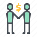 agreement, business, company, deal, finance, money, partnership icon