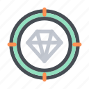 business, company, diamond, finance, gem, opportunity, target icon