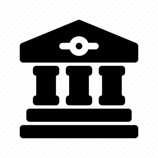bank, banking, building, business, company, courthouse, finance icon