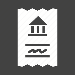 bank, bill, book, business, cheque, draft, sign icon