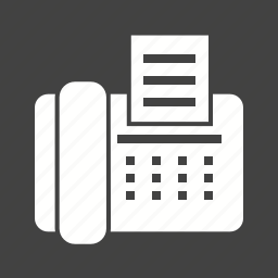 communication, equipment, fax, machine, office, telephone icon