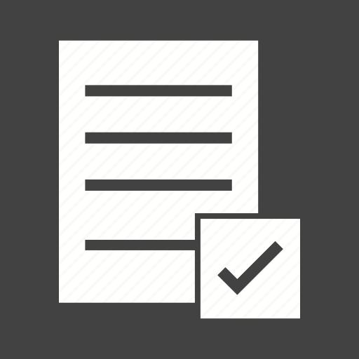 check, checklist, clipboard, document, file, list, paper icon