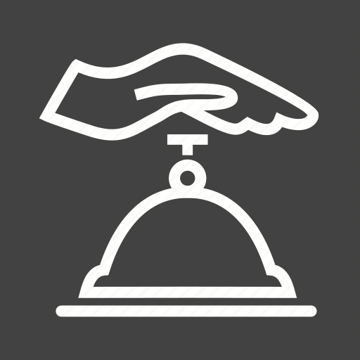 bell, counter bell, customer, hand, hotel, ring, ringing icon