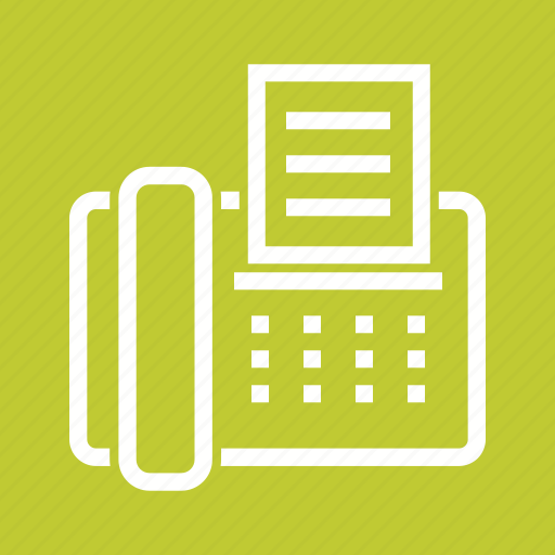 communication, equipment, fax, machine, office, telephone icon