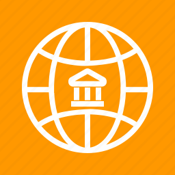 bank, business, finance, financial, global, stock, world icon