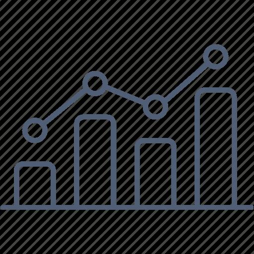 analytics, bar, chart, growth, statistics icon