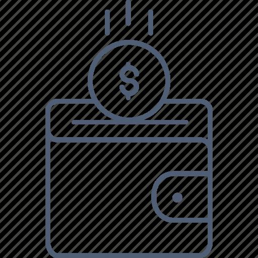 dollar, earning, earnings, profit, wallet icon