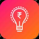 business, idea, innovative, investment, money, rupee, startup icon