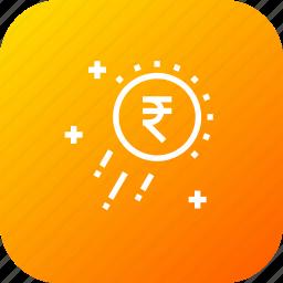 business, growth, money, raining, success, transaction icon