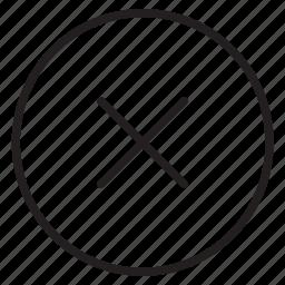 close, delete, error, ignore, stop icon