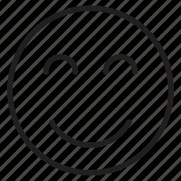 customer, emoji, happy, joy, smile, user icon