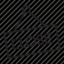 close, closed, sign, store icon