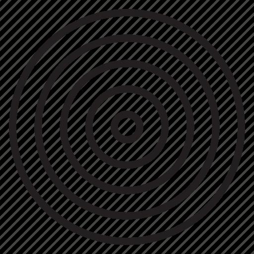 bullseye, finance, marketing, sales, target icon