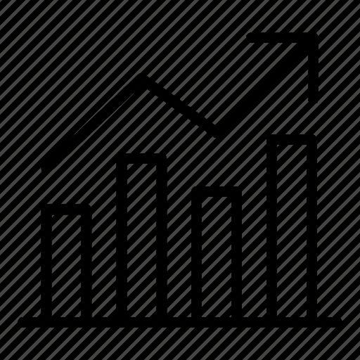 bar chart, chart, finance, graph, reporting, trend, upward icon