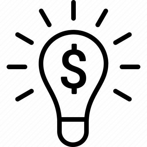 business, entrepreneur, entrepreneurship, idea, lightbulb, making, money icon