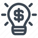 bulb, business, business idea, finance, idea, lamp, light bulb icon