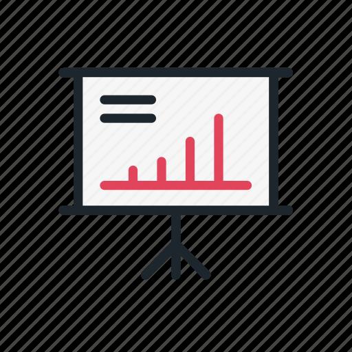 analysis, analytics, board, business, graph, presentation, tactics icon