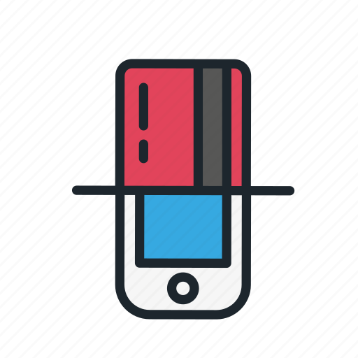 business, card, credit, internet, online, payment, smartphone icon