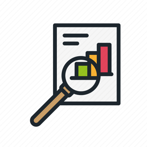 analysis, business, document, graph, research, startup, strategy icon