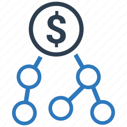 budget, dollar, investment, marketing affiliate, money turnover icon