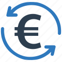 conversion, euro, money icon