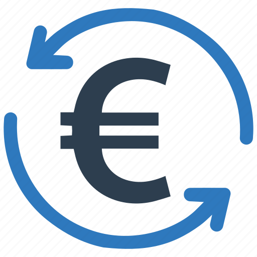 conversion, euro, money, payback, reembolso, refund, repayment icon