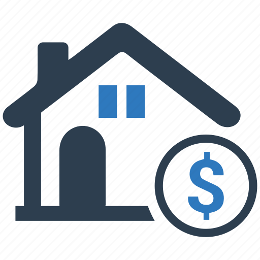 building, dollar, home loan, house, price, property, real estate icon