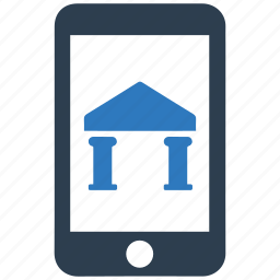bank, bank account, mobile, mobile banking, online banking icon