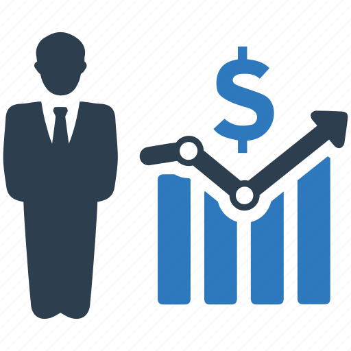 business growth, profit, sales report icon