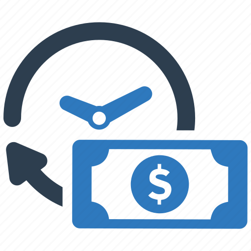 clock, credit, financial, income, money, payment, time icon