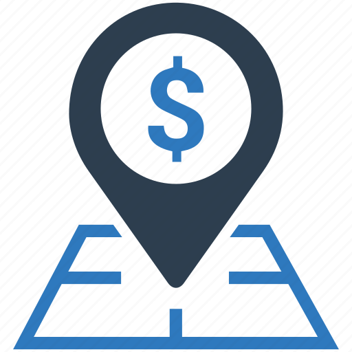 business, finance, financial, location, map, pointer, web icon