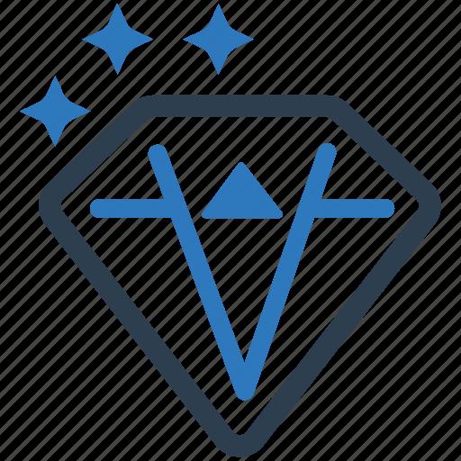 clean code, custom development, diamond, gemstone, jewel, price creation, web coding icon