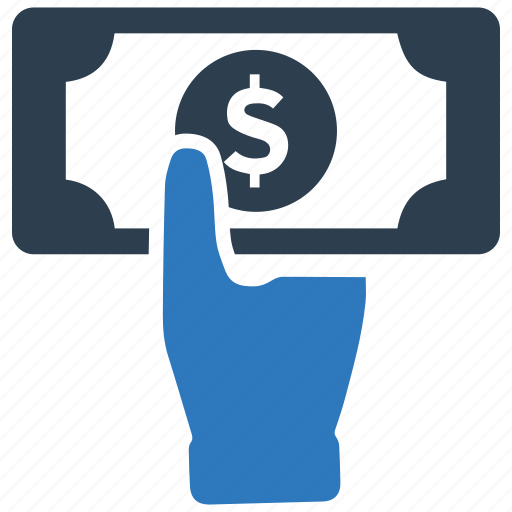 earnings, finance, hand, income, money, payment, profit icon