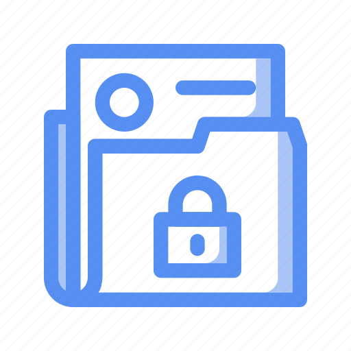 Business, company, confidential, file, finance, lock, secret document icon - Download on Iconfinder