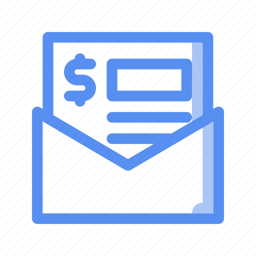 bill, business, contract, finance, invoice, payment, receipt icon