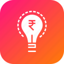 business, idea, innovative, investment, money, rupee, startup icon
