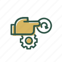 business, finance, reset icon