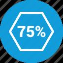 data, graphic, info, seventyfive icon