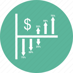 bar, chart, dollar, graph icon