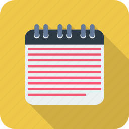 document, note, notebook, notepad icon