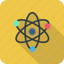 atom, molecule, outline, physics, quantum, science icon