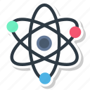 atom, molecule, outline, physics, quantum icon