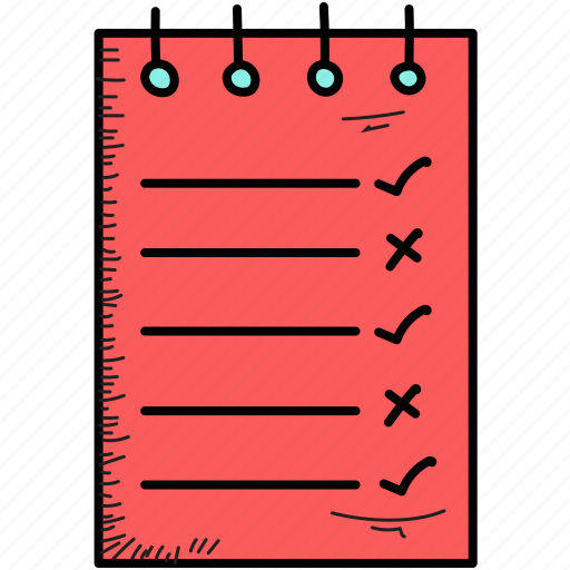 document, list, page, report icon