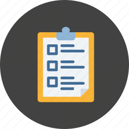 checkmark, list, personal, planning, qualities, require, responsibility icon