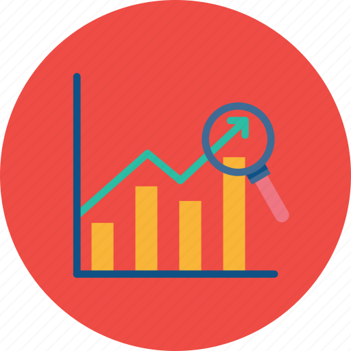 analytics, chart, examine, financial, graph, sales, year icon