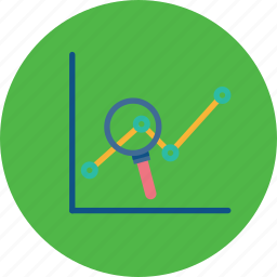 examine, growth, market, report, review, sales, seo icon