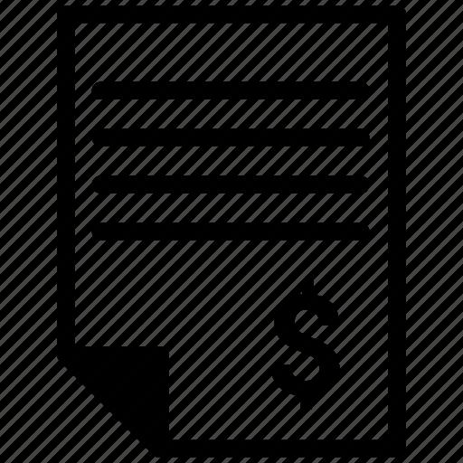 document, file, report, sales icon