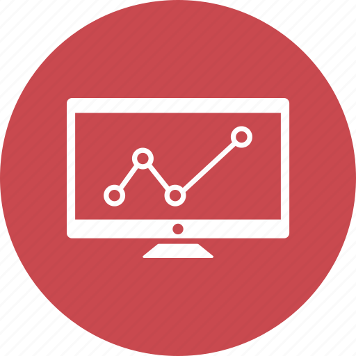 bar, computer, growth bar, monitor icon