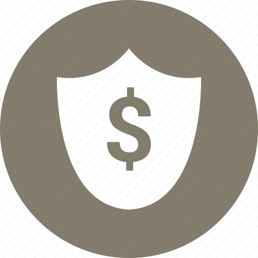 dollar, security, shape, shield icon